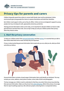 Thumbnail: Ten privacy tips for parents and carers